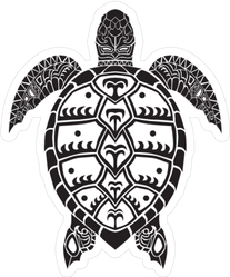 Tribal Sea Turtle Sticker
