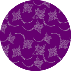 Tribal Stingray On Violet Backdrop Sticker