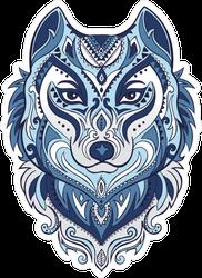 Tribal Style Wolf Totem Sticker
