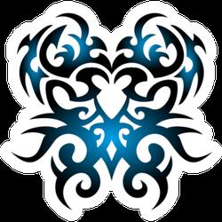 Tribal Tattoo Blue Gradient Sticker