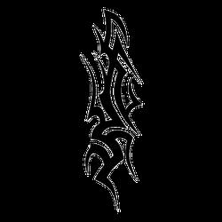 Tribal Tattoo Flame Sticker