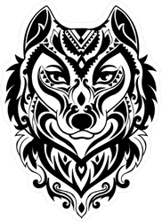 Tribal Wolf Totem Sticker