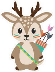 Tribal Woodland Deer Sticker