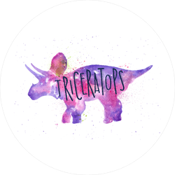 Triceratops Watercolor Sticker
