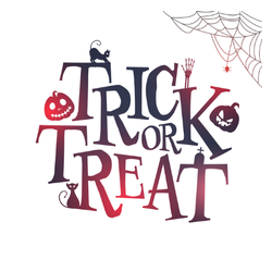 Trick or Treat Lettering Sticker