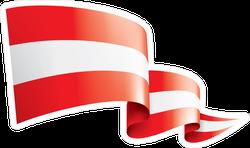 Triple Ripple Austria Flag Sticker