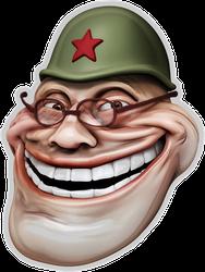 Trollface Meme In Russian Sticker