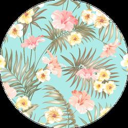 Tropical And Beautiful Plumeria Flowers Patten Sticker