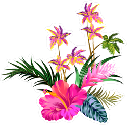 Tropical Flower Collection Sticker