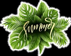 Tropical Palm Leaf Summer Sticker