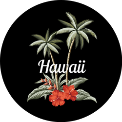 Tropical Vintage Palm Trees Hawaii Sticker