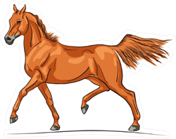 Trotting Arabian Horse Sticker