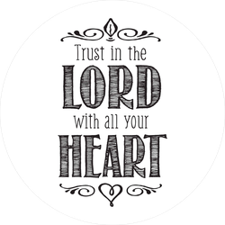 Trust In The Lord With All Your Heart Christian Verse Sticker