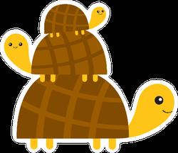 Turtle Pyramid Sticker