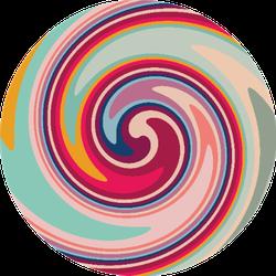 Twirl Twist Paint Sticker