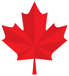 Two Color Maple Leaf Sticker