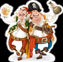 Two Drunk Pirates Sticker