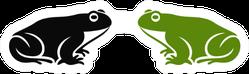 Two Frogs Logo Sticker