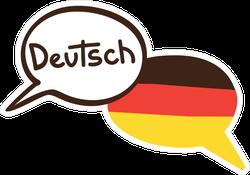 Two Hand Drawn German Speech Bubbles Sticker