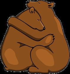 Two Hugging Bears Sticker
