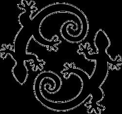 Two Lucky Lizards Circle Sticker
