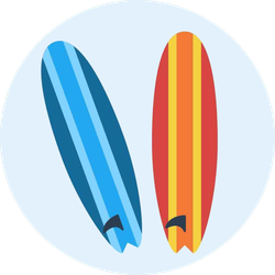 Two Surfing Boards Sticker