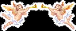 Two Trumpeting Cherubs Sticker