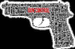 Typographical Gun control Sticker