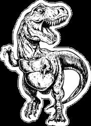 Tyrannosaurus Dinosaur Illustration Sticker