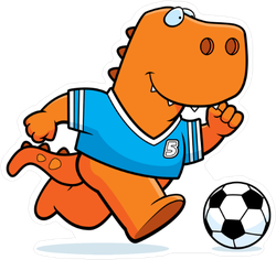 Tyrannosaurus Rex Soccer Player Sticker