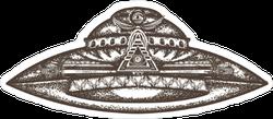 UFO Alien Ship Sticker