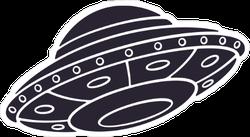 ufo silhouette sticker