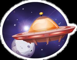 UFO Travelling Sticker
