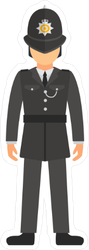 UK Police Officer In Uniform Sticker