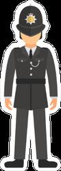 UK Police Officer In Uniform Sticker