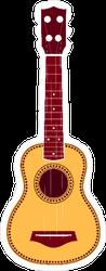 Ukulele Hippie Sticker