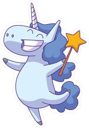 Unicorn Fairy With Star Wand Sticker