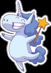 Unicorn Fairy With Star Wand Sticker
