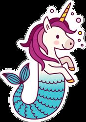 Unicorn Mermaid Fairy Tale Creature Sticker