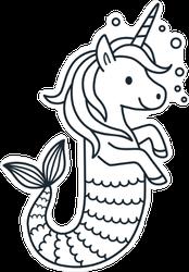 Unicorn Mermaid Sticker