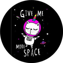 Unicorn Space Cat Sticker