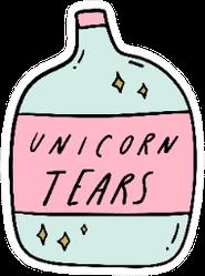 Unicorn Tears Bottle Doodle Art Sticker
