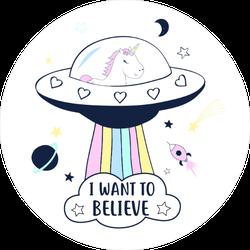 Unicorn UFO Sticker