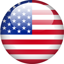 United State Of America Flag Button Sticker