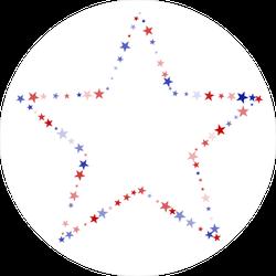 United States Confetti Stars Sticker
