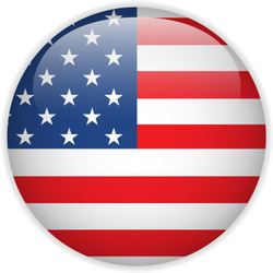 United States Flag Glossy Button Sticker
