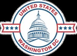 US Capitol Building Washington DC Sticker
