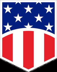 US Flag Shield Symbol Sticker