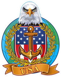 US Navy Eagle and Anchor Globe Sticker