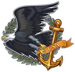 US Navy Eagle Sticker